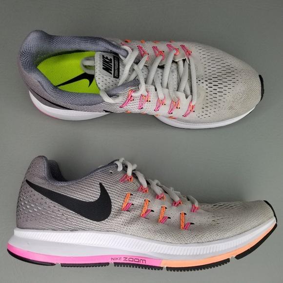 Nike Air Zoom Pegasus 33 Women's Running Shoe WhitePink